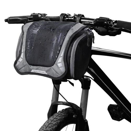 Rainproof Bicycle Handlebar Bag with Rain Cover Bike Front Bag Motorcycle Handlebar Mount Holder Bag Bike Camera Bag Image