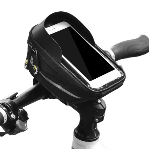 Bicycle Phone Mount Bags Waterproof Front Frame Top Tube Bag with Touch Screen Phone Holder Case Cycling Bike Phone Tool Storage Bag Pack Image