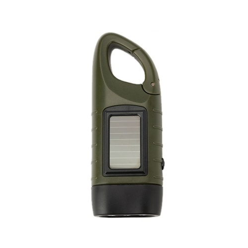 Outdoor Multifunctional LED Solar Power Mini Emergency Hand Crank Dynamo Flashlight Rechargeable Lamp Charging Powerful For Safety Survival Gift