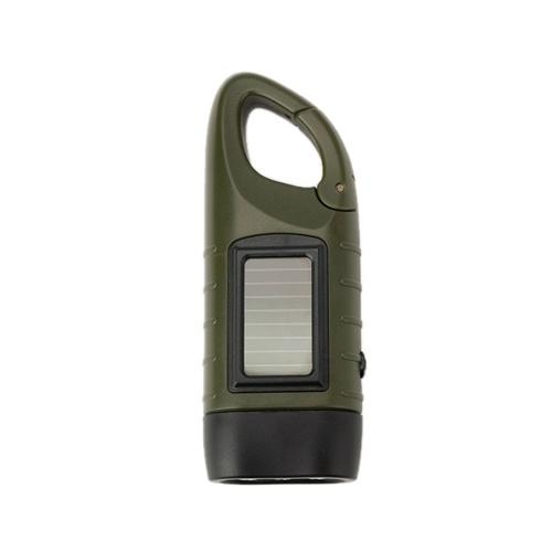 Multifuncional al aire libre LED de energía solar Mini emergencia Manivela Dynamo Linterna Lámpara recargable de carga Potente para la seguridad Supervivencia Regalo