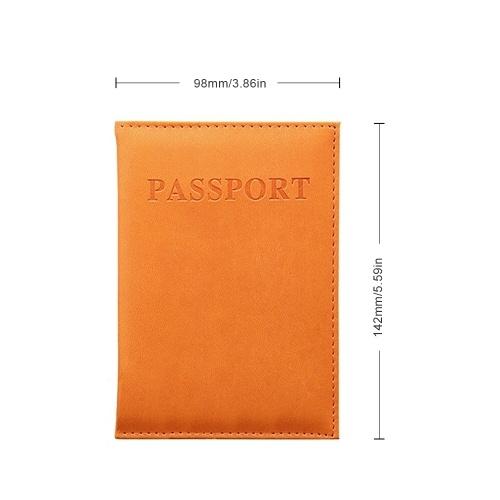 Leather Travel Passport Holder Case