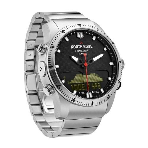 NORTH EDGE Мужские спортивные цифровые аналоговые часы для дайвинга