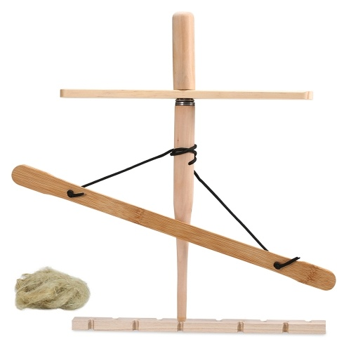 Bow Drill Kit Primitive Wood Survival Practice Friction Fire Tool Kit