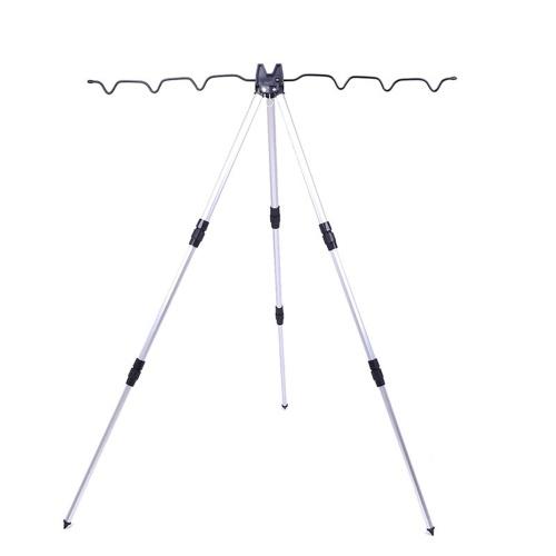 Supporto per canna da pesca telescopica in lega di alluminio