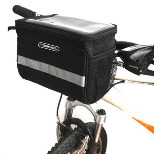 Reflective Bicycle Handlebar Basket Insulated Cooler Bag Outdoor Cycling Mountain Bike Front Tube Bag Pack Image