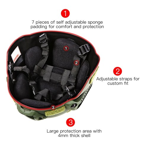 Image of Outdoor Helmet CS Airsoft Paintball Base Jump Protective Helmet with Night Vision Sport Camera Mount