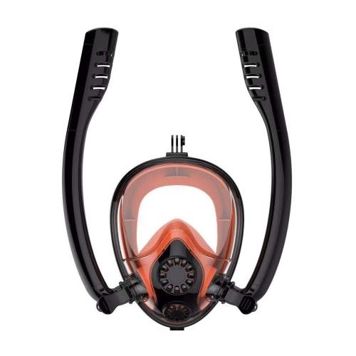 Double Breath Tube Swimming Mask