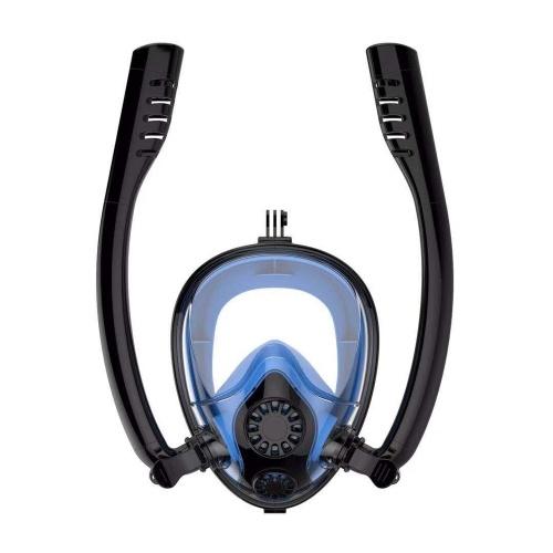Twobas Mask de snorkleing doble tubo