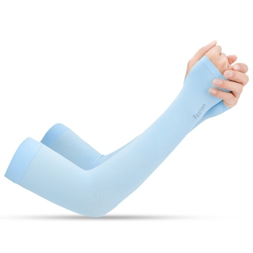 1 Pair Cooling Arm Sleeves UV Protective Absorbent Arm Cover