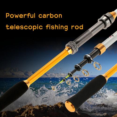 1.8M / 2.1M / 2.4M / 2.7M / 3.0M / 3.6M Superhard Ultralight Carbon Telescopic Fishing Rods Casting Fishing Rod Powerful & Highly sensitive