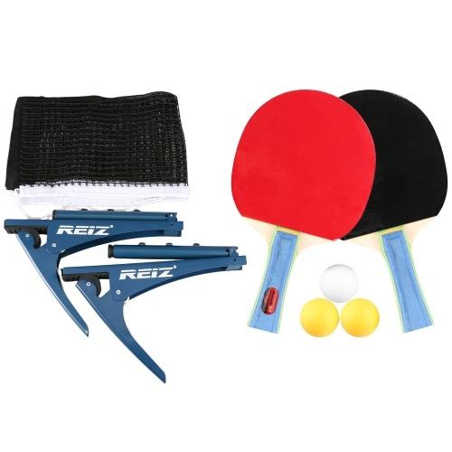 Ping-Pong-Paddel-Set mit Tischtennis-Netz-Set für den Indoor-Outdoor-Trainingswettbewerb