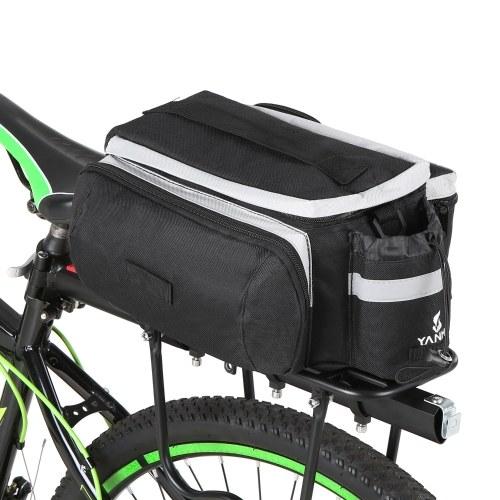 Multifunctional Bicycle Rear Seat Bag Cycling Bike Rear Rack Trunk Pannier Luggage Carrier Bag Handbag Shoulder Bag Image
