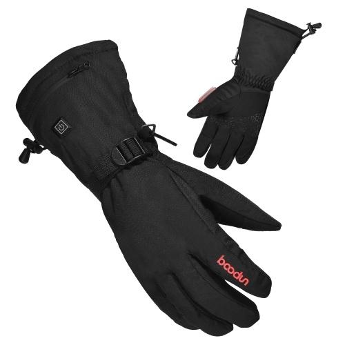 Перчатки с электрическим подогревом и аккумуляторной батареей Тепловые перчатки Теплые перчатки для рук Зимние перчатки с 3 уровнями контроля температуры для восхождения на лыжах Пешие прогулки фото