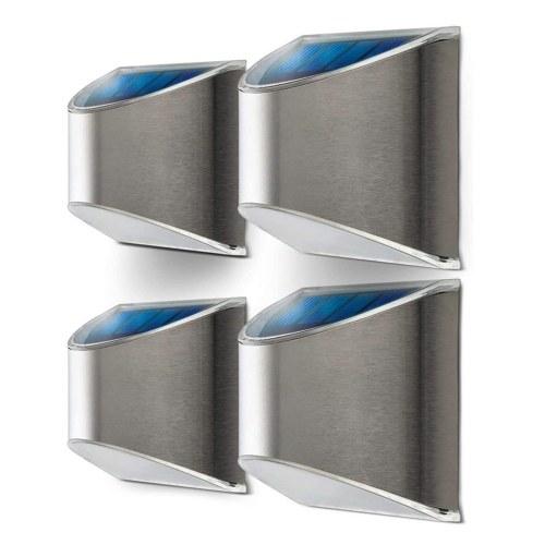 Lámpara de pared portátil Ourdoor de ahorro de energía Decoración de jardín Lámpara de pared de energía solar a prueba de agua