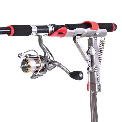 Automatic Spring Fishing Rod Holder Folding Fishing Pole Mount Bracket Ground Stand Image