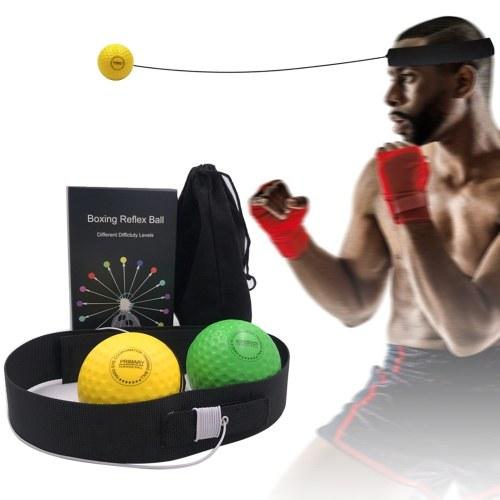 Boxing Reflex Balls with Fitness Headband Punching Training Balls Set