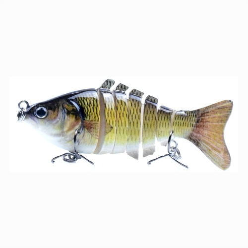3.9in / 0.53oz Bionic Multi Jointed Hard Bait S Swimming Action Fishing Lure 7 Segment Sinking Fishing Lure VIB Bait Crankbait 3D Eyes Lifelike Artificial Fishing Lures Hook with Treble Hooks Tackle Image
