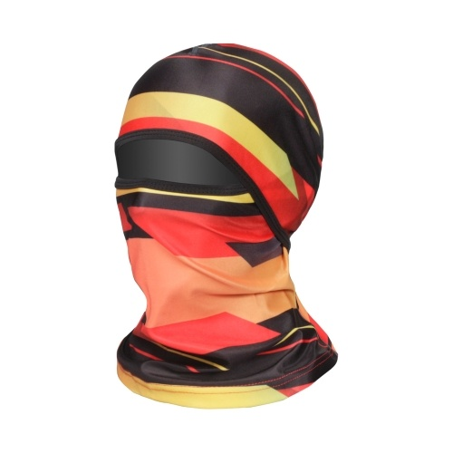 Cycling Helmet Liner Neck Gaiter Breathable Sunproof Balaclava Print Stretchy Running Cycling Beanie Cap With Face Cover Image