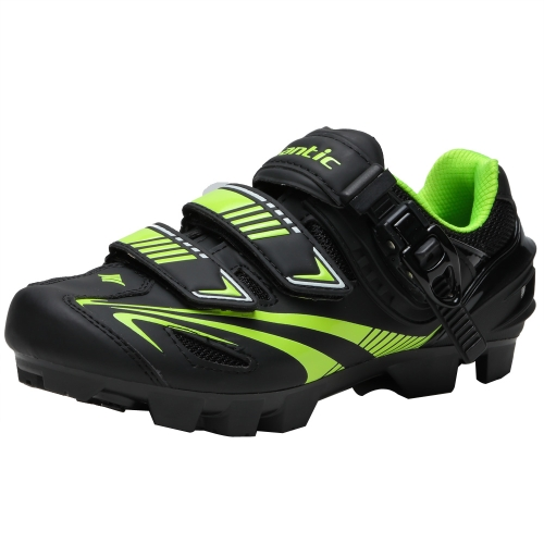 Santic Men's Bicycle Racing Shoes Locking Shoes Professional Mountain Bike MTB Cycling Shoes Anti-skid Breathable