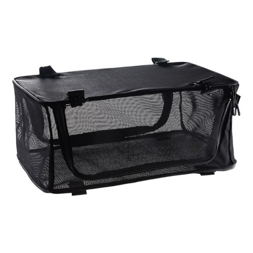 Folding Mesh Storage Bag Portable Organizer Mesh Storage Case for Camping Fishing Hiking Mounteering
