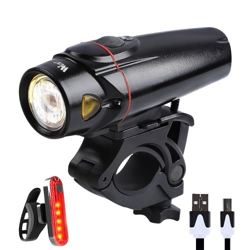 WEST BIKING Bike Light Set Induction Lamp USB Rechargeable Lamp MTB Road Bicycle Front/Rear Lamp Image