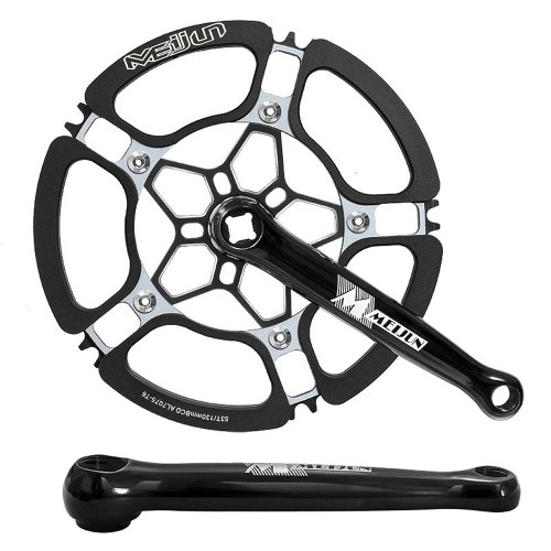 Bicycle Crank Chainwheel 45T 47T 53T Aluminum Alloy Single-speed Crankset Bicycle Accessories Bike Tooth Plate 130mm BCD Image