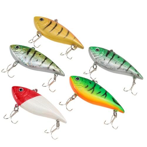 5pcs dura pesca esca VIB ancorette esche duro Tackle strumento 10g 7cm Multicolor esca artificiale
