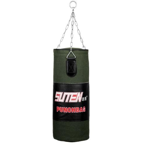 60-80cm boxe addestramento al combattimento libero Sandbag appeso vuoto Kick Punch Bag con catena