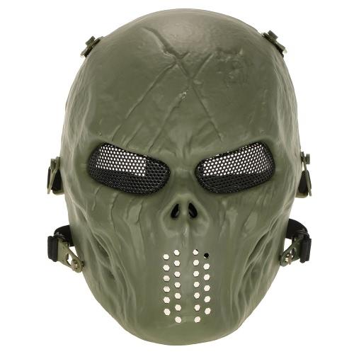 Al aire libre juego de guerra táctico de la máscara de la cara llena de Airsoft Paintball del Ejército CS máscara de la máscara del partido de Halloween Cosplay protectora de la cara