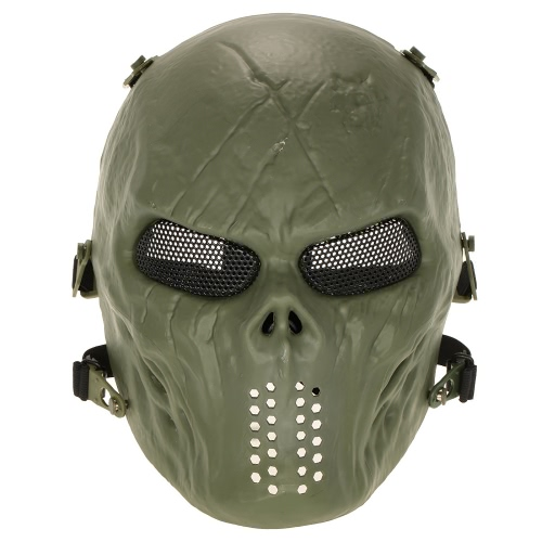 Outdoor-Kriegsspiel Tactical Mask Full Face Airsoft Paintball CS Armee Halloween-Partei Cosplay Schutzgesichtsmaske-Schablonen