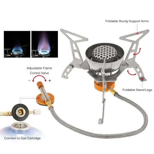 Foldable Portable Camping Hiking Picnic BBQ Cookout Gas Stove Burner Cooker Y2