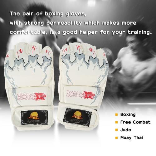 Mezze dita guanti boxe Kung Fu Fighting Muay Thai arti marziali guanti
