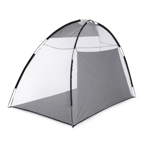 TOMSHOO 10' Golf Practice Hit Net Hitting Cage Training Tent with Carry Bag