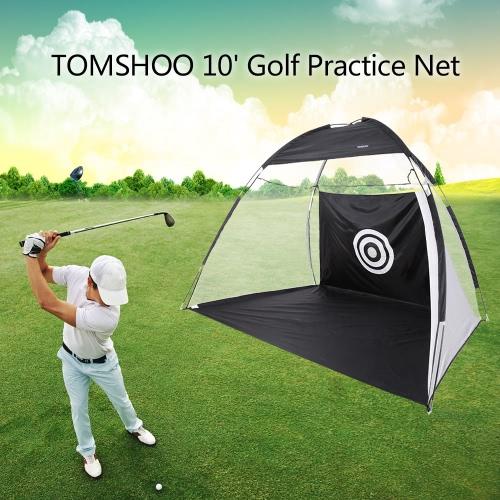 TOMSHOO 10 'Гольф Практика Hit Net ударяя Cage Training палатка с сумка для переноски