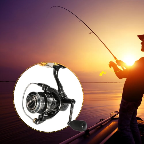 6 + 1 BB Kugellager Spinning Angelrolle Gang links / rechts Austauschbare Klappgriff High Speed Fisch Reel