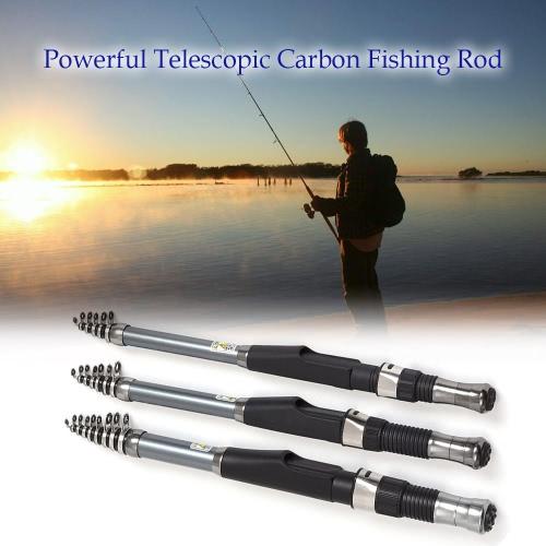 In fibra di carbonio telescopica canna da pesca a scomparsa Pesca Kit Polo Viaggi canna da pesca