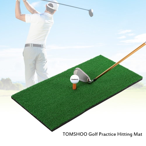 TOMSHOO 60 * 30cm Golf Mat residenziale Practice Colpire tappetino di gomma Tee Holder