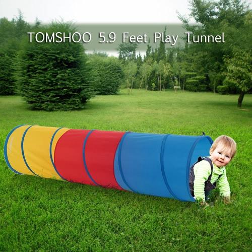 TOMSHOO 5.9 Piedi Tunnel portatile per bambini Kids Play tenda esterna giardino pieghevole Pop Up giocattolo esterno bambino tenda