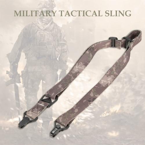 Docooler Военная Тактическая безопасности Два Очки Открытый пояс Карабин слинг регулируемый ремень