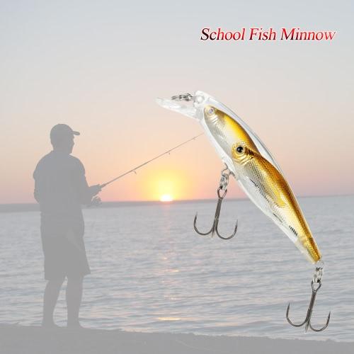 Группа Рыба Приманки Minnow Приманка Плавающий SwimBait Hard Plastic Fish Eye 3d