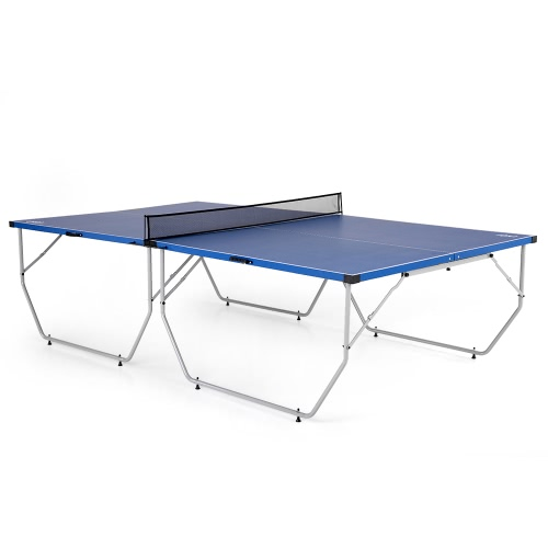 Lixada Folding Table Tennis Table Ping Pong Table Indoor / Outdoor Portable Ping Pong Practice Training Table Home Gym Fitness Equipment 108