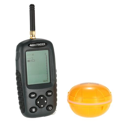 Docooler beweglicher Punktematrix-LCD-Fisch-Sucher nachladbare drahtlose Sonar-Sensor-Sounder Echolot Fischalarm Transducer Angelgeräte