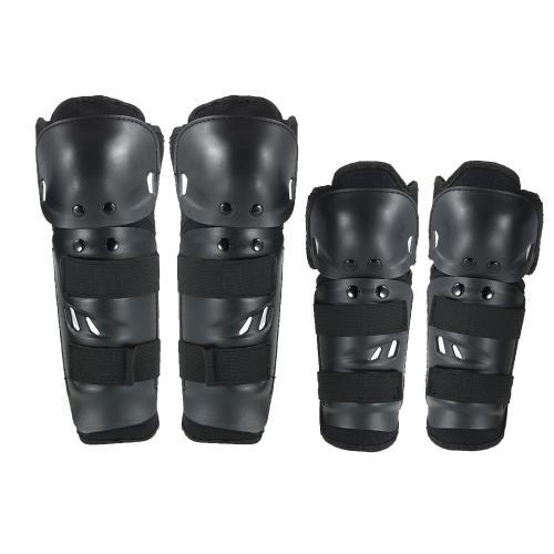 Ellenbogen Knie Schienbeinschutz Pads 4 Stücke Kit Atmungsaktiv Einstellbare Kniescheibe Pads Beschützer Ellenbogen Rüstung für Motorrad Motocross Racing