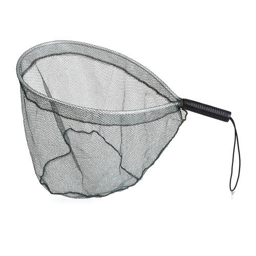 Pesca a mosca Brail Guadino alluminio portatile leggero atterraggio pesca cattura Net e di uscita Net Nylon Mesh
