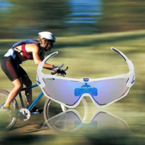 Occhiali da sole in ciclismo con protezione UV UV con 4 lenti intercambiabili