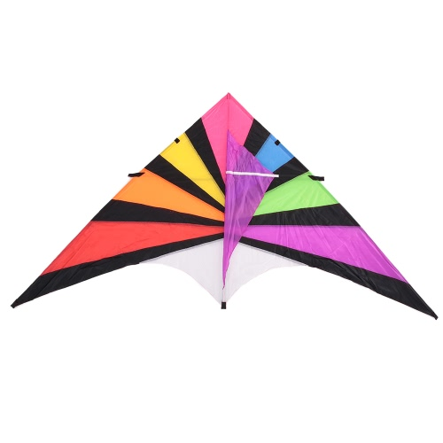 280 * 145cm Big Nylon Segel Kites Single Line Kite Flyer Kite Dreieck Multicolor Big Delta-Form Kite Flyer For Fun
