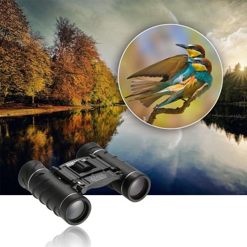 Mini compacto 20x22 Binocular alta potencia de caza de aves Telescopio Binocular de alta definición observación de vida silvestre de navegación a la lente del paño de la bolsa que lleva la cuerda de seguridad