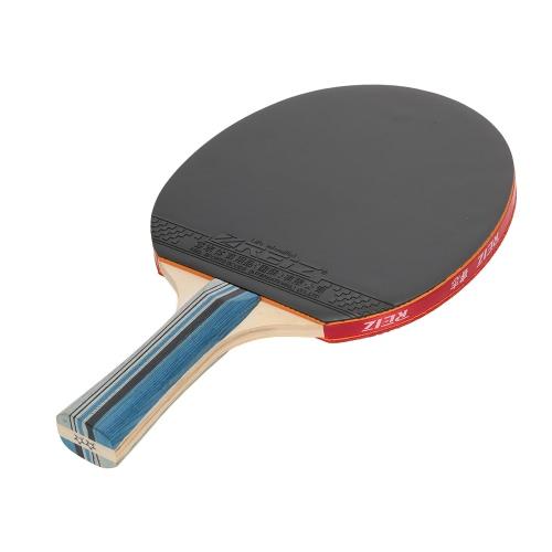1pcs Sport Ping Pong Peddle racchetta Long / Short Maniglia Dual-side Agitare mano Pen-tenere-stile Looping Table tennis racket Bat con la cassa del sacchetto per Loop Player