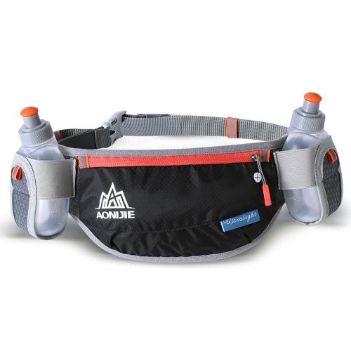 Image of AONIJIE Laufen Hydratation Gürtel Flaschenhalter Gürtel Reflektierende Laufen Wasser Gürtel Fanny Pack Taille Packs