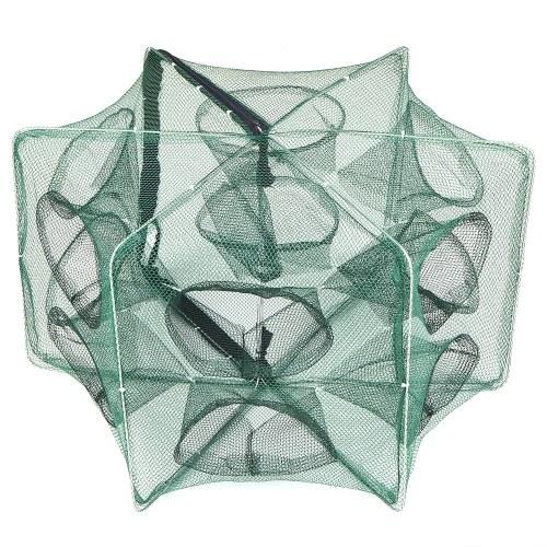 Rete da pesca pieghevole Hexagon 6 buche da pesca